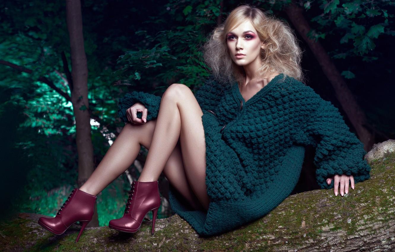 Photo wallpaper girl, makeup, glamour, Daniel Ilinca, Oana