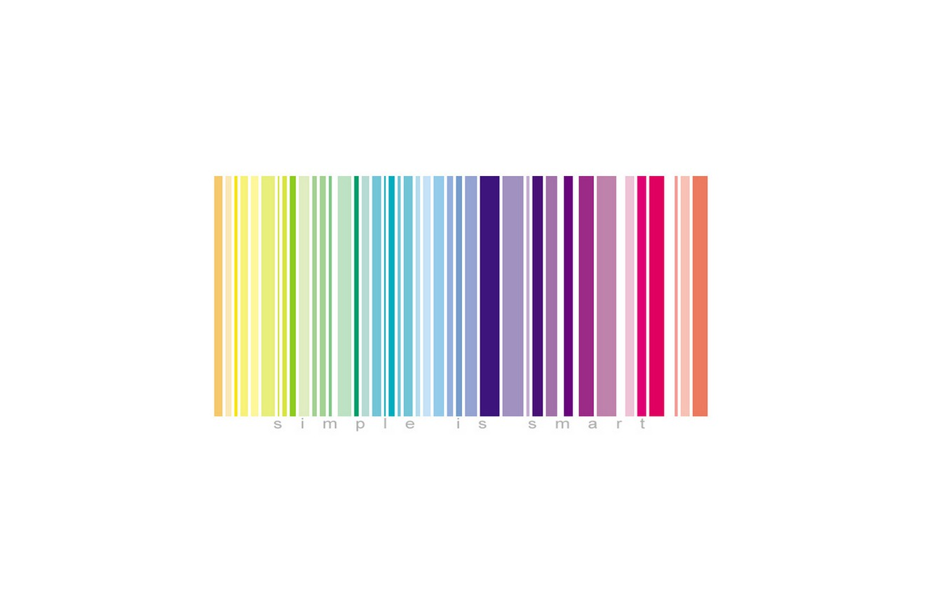 Photo wallpaper color, easy, the inscription, barcode, simple is smart