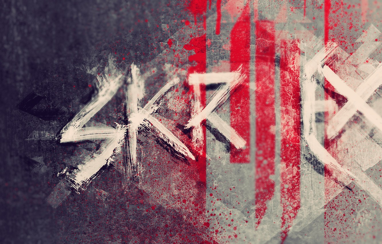 Photo wallpaper music, logo, logo, dubstep, Skrillex, progressive house