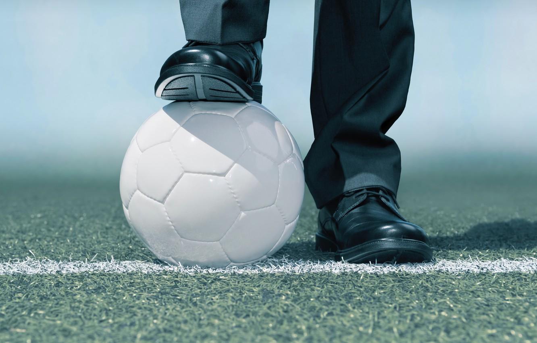 Photo wallpaper soccer, ball, suit