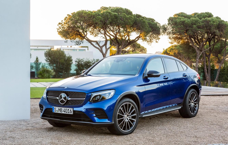 Photo wallpaper blue, Mercedes-Benz, Mercedes, AMG, Coupe, GLC-Class, C253