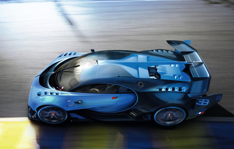 Photo wallpaper Bugatti, Vision, race, Gran Turismo, hypercar