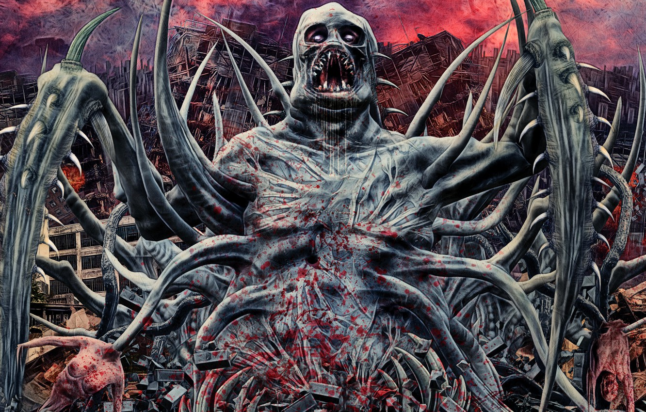 Photo wallpaper metal horror deathcore brutal headwound the pony