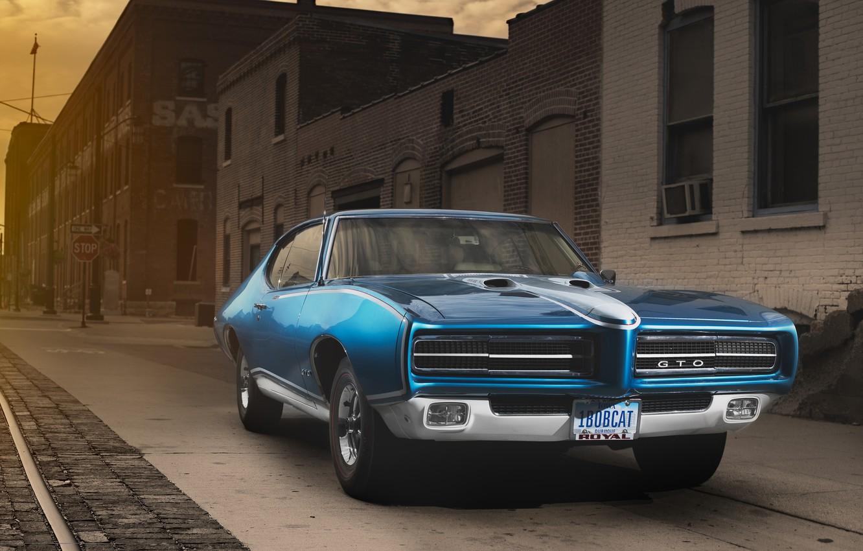 Photo wallpaper muscle car, coupe, pontiac, hardtop, gto