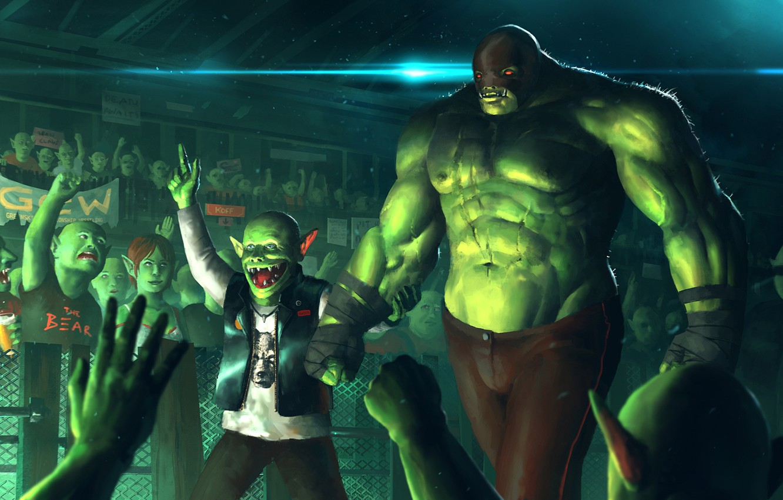 Wallpaper green, art, strongman, monsters images for ...