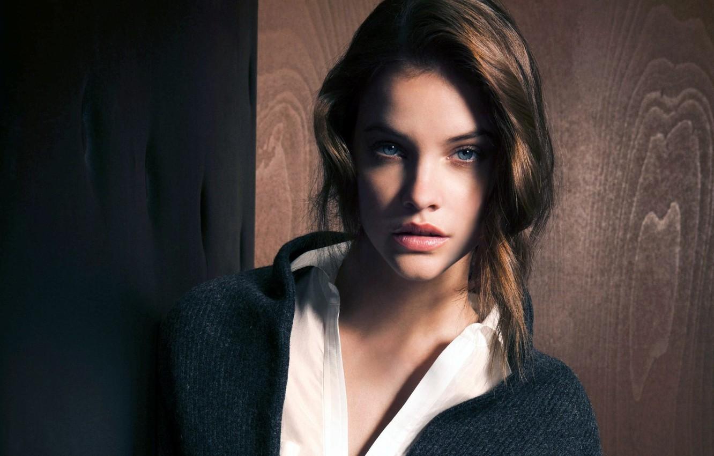Photo wallpaper girl, background, tree, model, beauty, model, Barbara Palvin