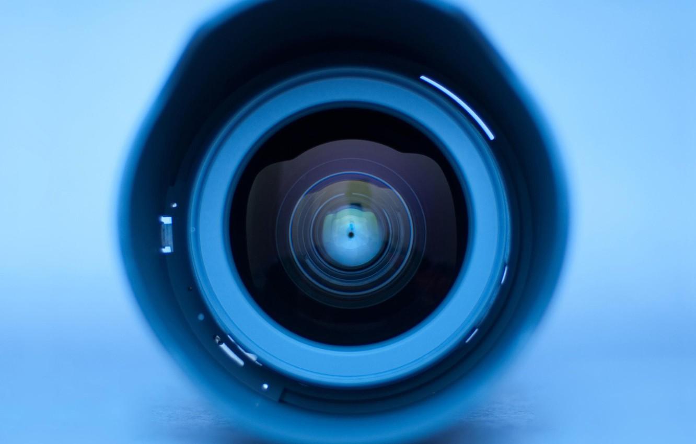 Photo wallpaper Eyes, Circles, Blue, Lens
