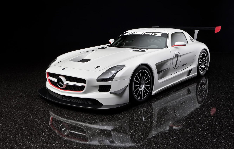 Photo wallpaper white, Mercedes-Benz, SLS GTR