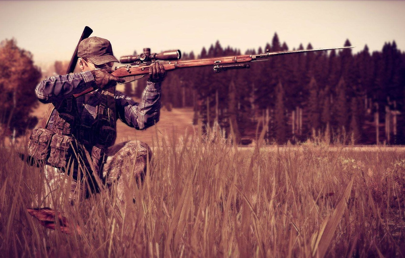 Wallpaper Forest Sniper Camouflage Mosin Dayz Standalone