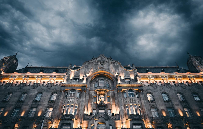 Photo wallpaper night, the city, Grand Budapest Hotel