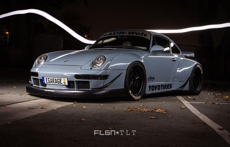 Photo wallpaper Porsche, egarage, toyotires