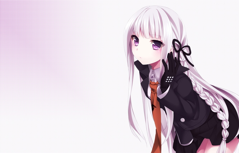 Photo wallpaper tie, Anime, mail kyouko, Danganronpa, ribbon.