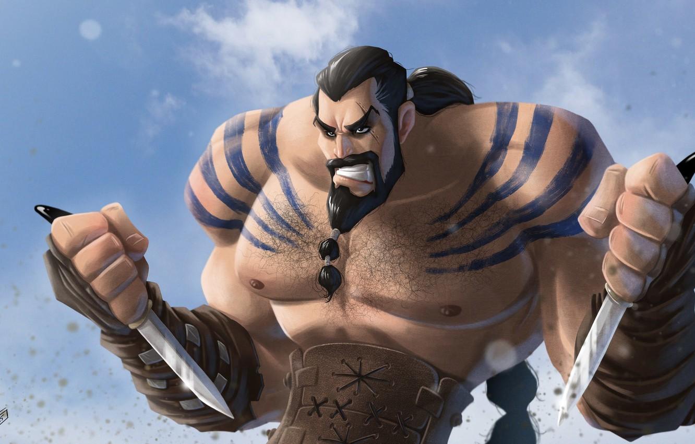 Photo wallpaper warrior, Game of Thrones, Game of thrones, Khal Drogo