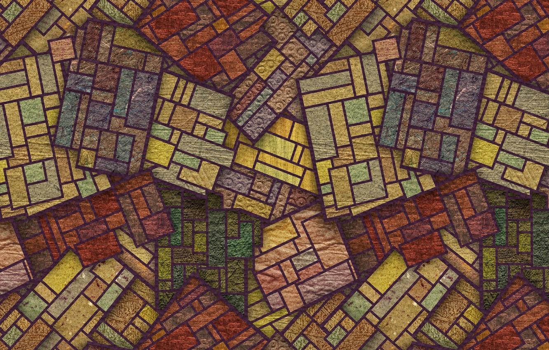 Photo wallpaper line, background, pattern, figure, squares, geometry, texture, ornament, figure