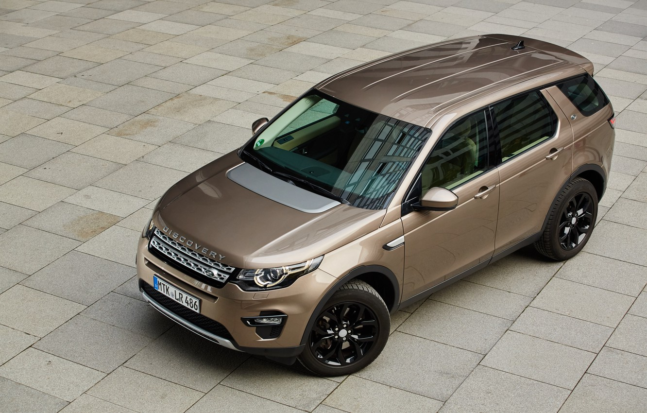 Photo wallpaper Land Rover, Discovery, the view from the top, Sport, HSE, Black Design Pack