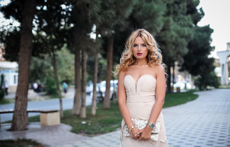 Photo wallpaper summer, look, style, watch, dress, hairstyle, handbag, beauty