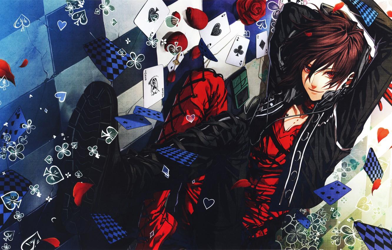 Photo wallpaper card, eyes, anime, art, cute, guy, ACE, the excitement, fabulous, magic, Card (Object), AMNESIA, IDEA …