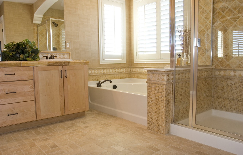 Photo wallpaper design, house, style, room, interior, bathroom