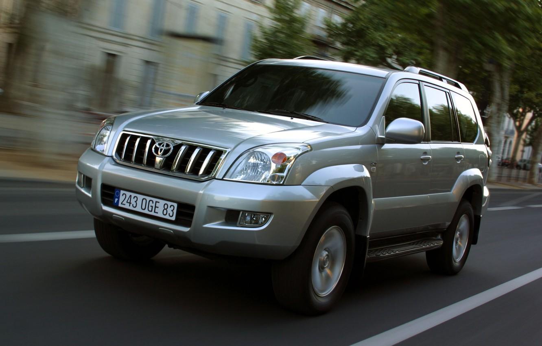 Photo wallpaper road, auto, the way, speed, jeep, toyota, land, riding, prado, cruiser, lend, 120, Prado, cruiser