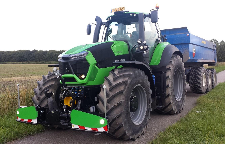 Photo wallpaper big, tractor, farming, Deutz Fahr, 9340