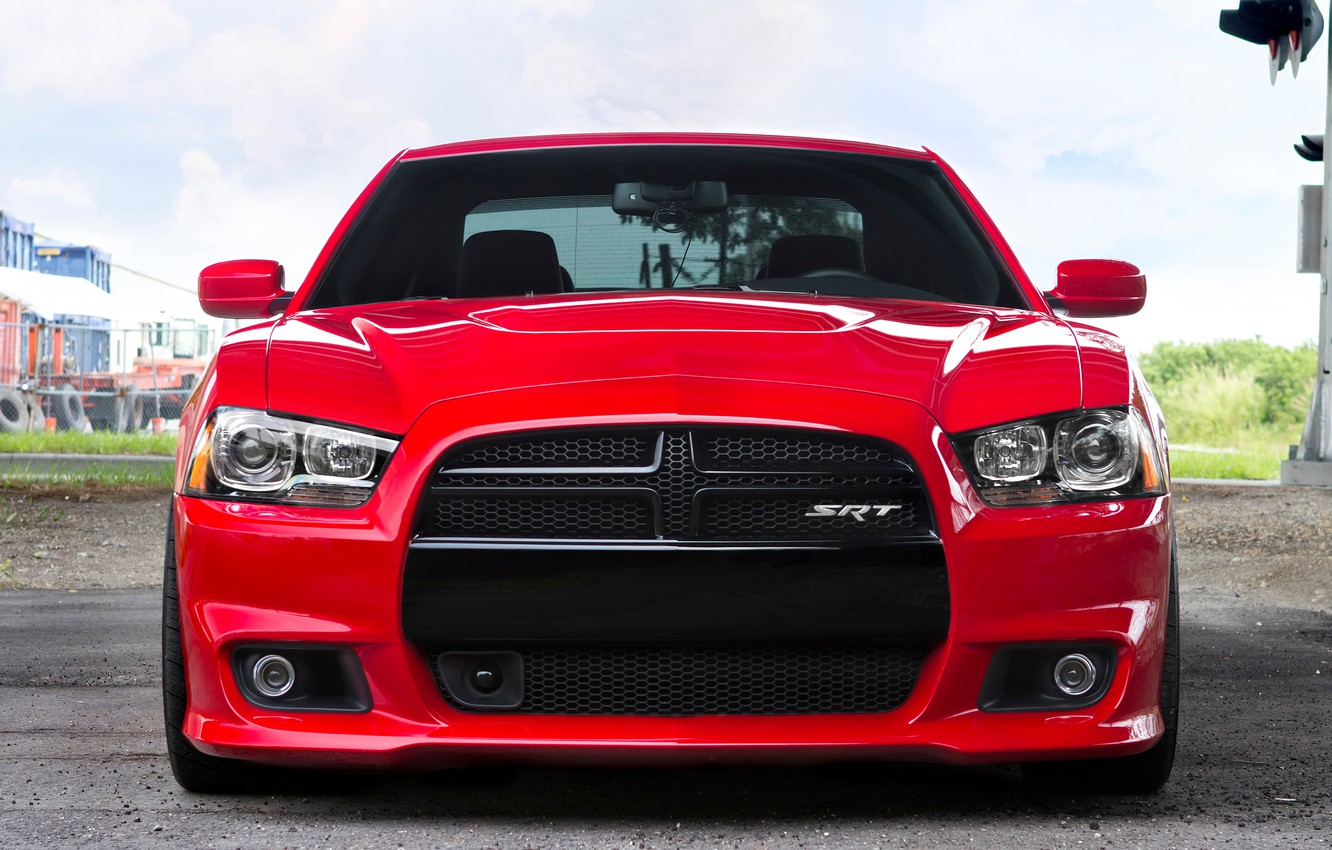 Photo wallpaper Red, Auto, Tuning, Machine, Dodge, SRT8, Charger, Before
