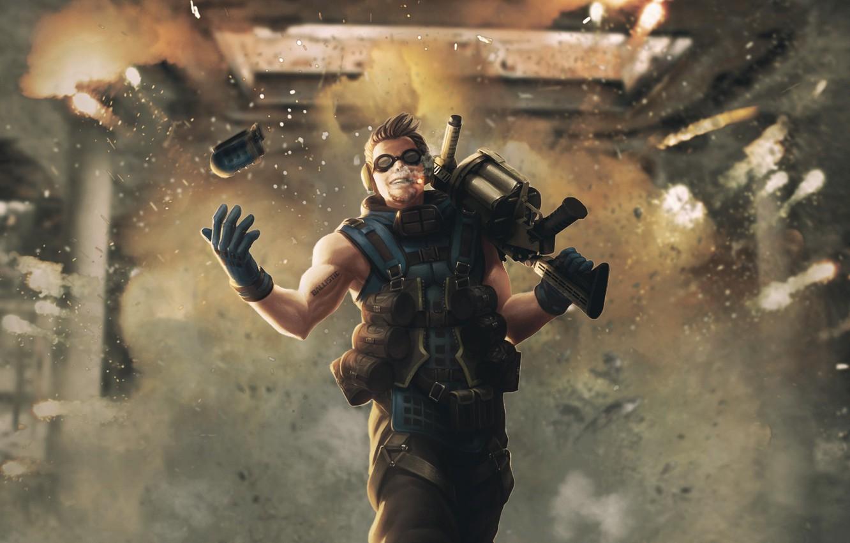 Photo wallpaper the explosion, fire, grenade launcher, bomber, grenades, the ballistics, the bomber, ballistic, grenader, thrower, Grenadier