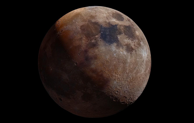 Photo wallpaper the moon, satellite, Moon, the contours