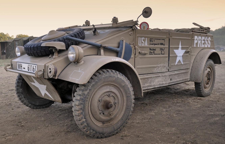 Photo wallpaper war, Volkswagen, car, military, purpose, high, patency, world, Second, times, (Kübelwagen), Tour 82