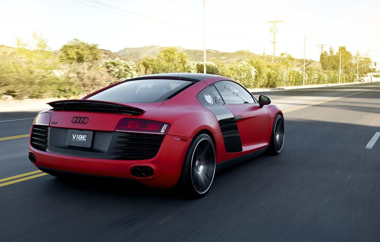 Photo wallpaper Audi, Supercar, Concavo Wheels, Red matte