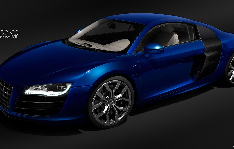 Photo wallpaper Audi, figure, audi r8 v10 quattro