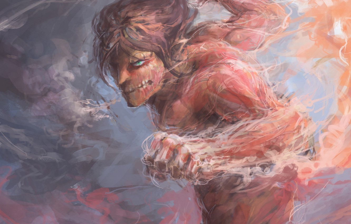 Photo wallpaper wallpaper, fire, flame, game, soldier, big, anime, power, muscles, transformation, hero, asian, giant, warrior, manga, …