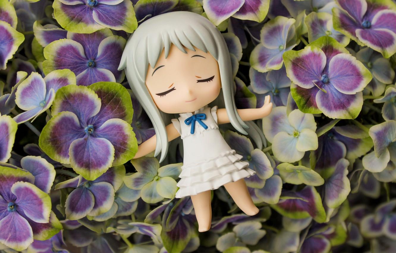 "Photo wallpaper flowers, toy, AnoHana, by Grishnakh666, Meiko ""Menma"" Honma"
