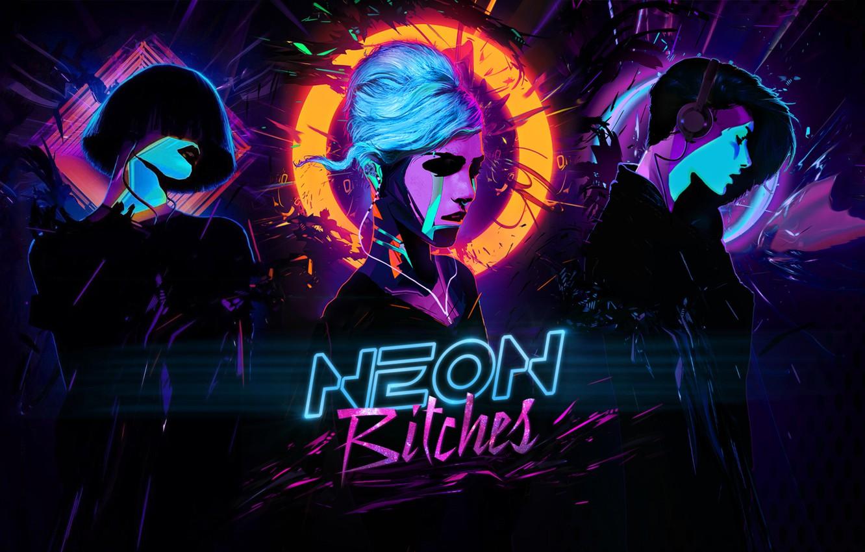 Photo wallpaper music, girl, neon, cyberpunk, bitch, bitches, synthwave