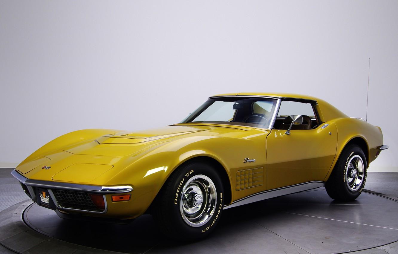 Photo wallpaper Corvette, Chevrolet, classic, auto, 1970, wallpapers, Corvette, Stingray