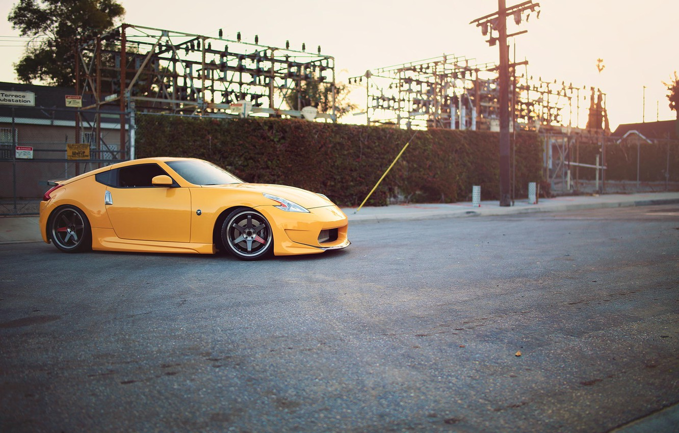 Photo wallpaper Nissan, tuning, 370z, stance