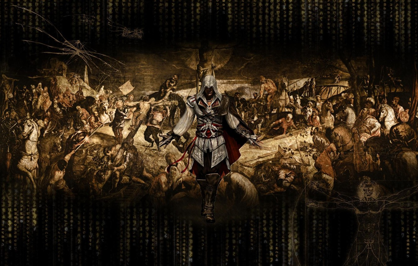 Photo wallpaper picture, assassins creed, drawings, killer