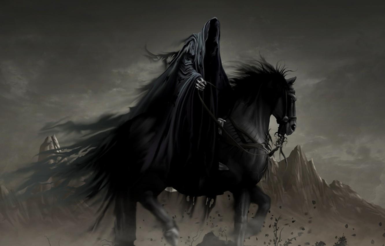 Photo wallpaper horse, fantasy, Ghost, rider