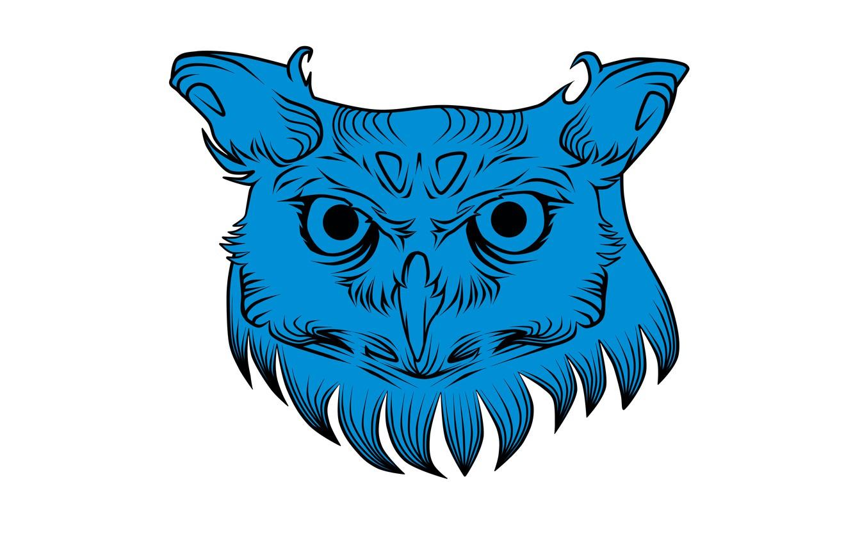 Photo wallpaper owl, minimalism, head, white background, owl