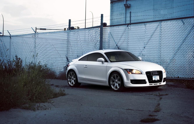 Photo wallpaper Audi, white