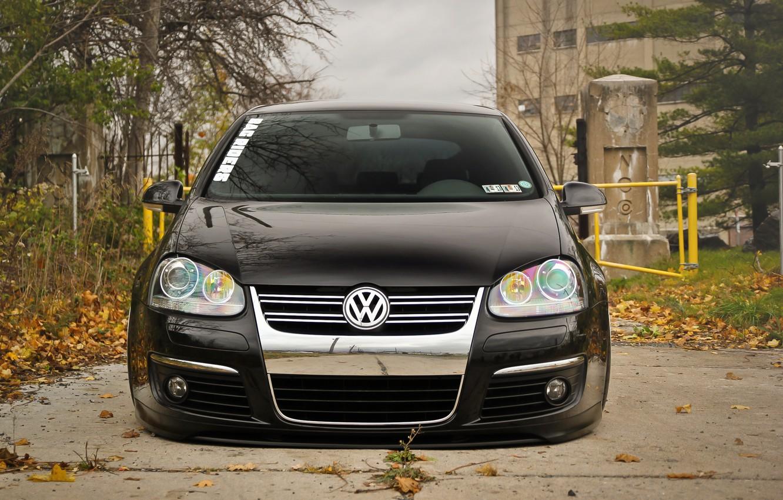 Photo wallpaper black, volkswagen, before, black, Golf, golf, Volkswagen, MK5