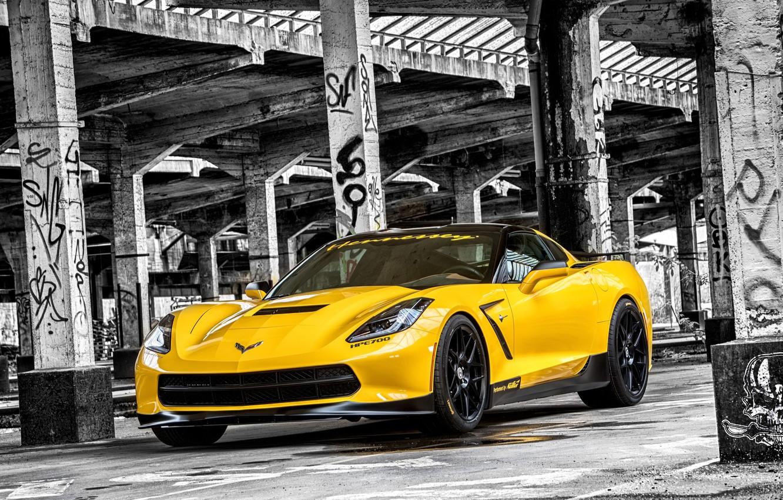 Photo wallpaper tuning, Corvette, Chevrolet, Chevrolet, Corvette, Stingray, HPE700, 2015, Stingray, Ruffer Performance