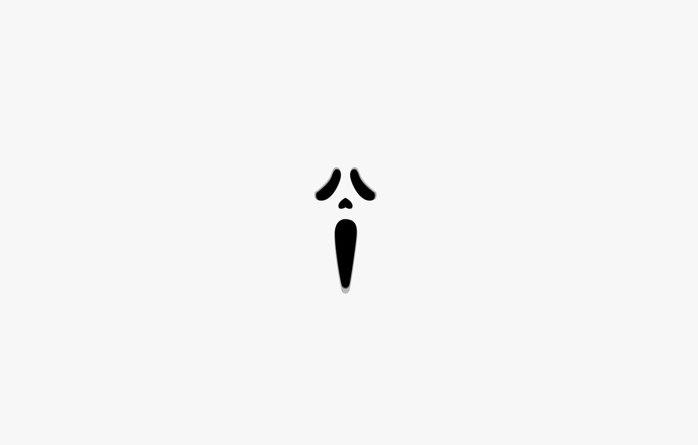 Photo wallpaper face, the film, minimalism, white background, horror, Creek