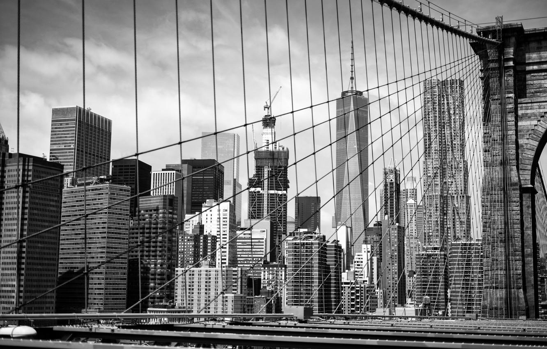 Wallpaper Building Black And White Brooklyn Manhattan New York