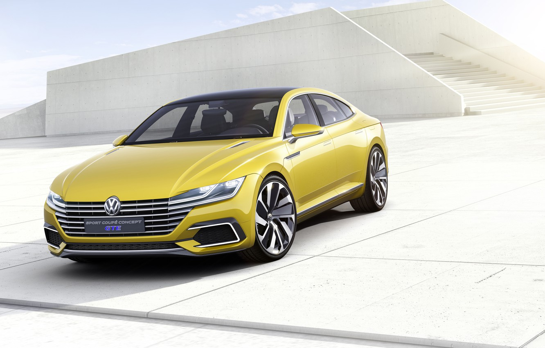 Photo wallpaper Concept, sport, coupe, Volkswagen, Coupe, Volkswagen, Sport, GTE, 2015
