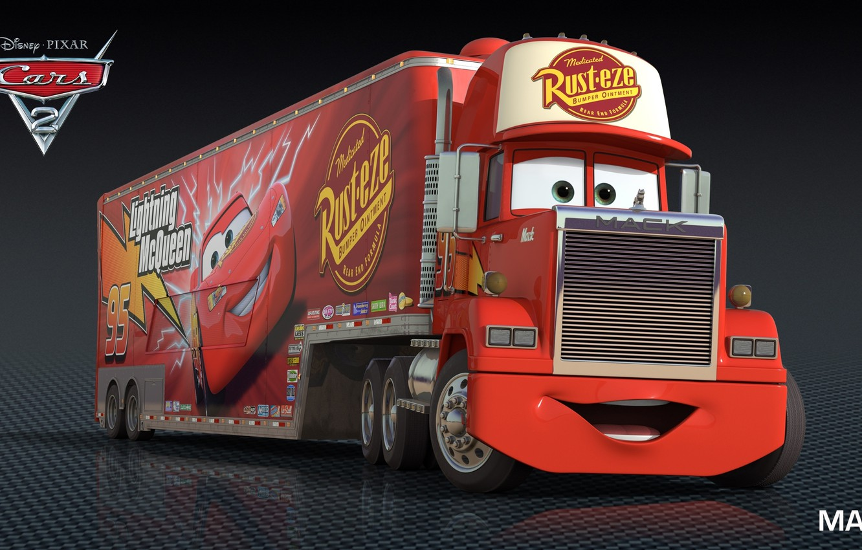 Photo wallpaper cartoon, cars, pixar, mack, disney