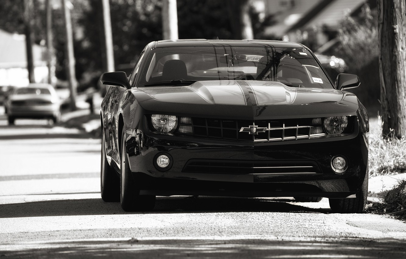Photo wallpaper auto, black, Chevrolet, chevrolet, camaro ss, Camaro