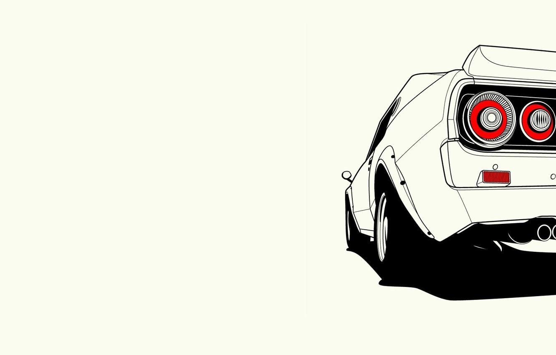 Photo wallpaper Nissan, Nissan, Skyline, rear, skyline, C110