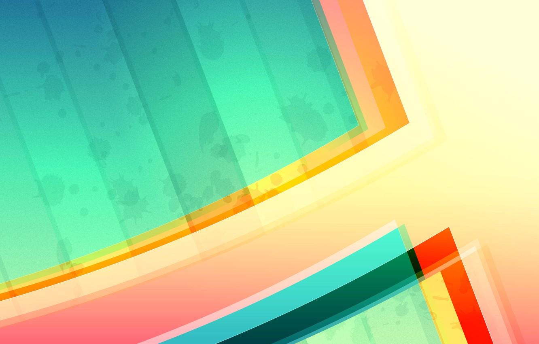 Photo wallpaper light, line, color, the volume, layer