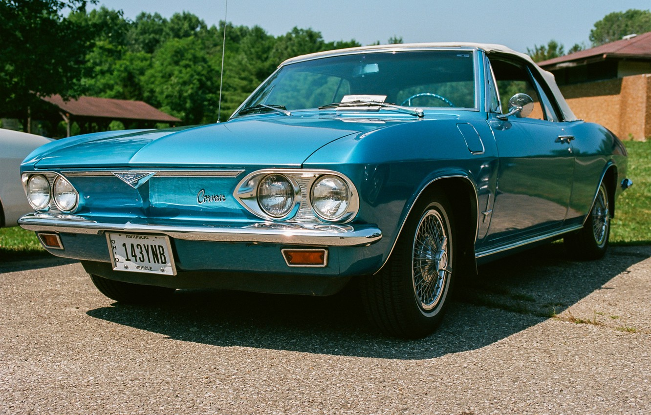Photo wallpaper Chevrolet, convertible, classic, the front, Corvair