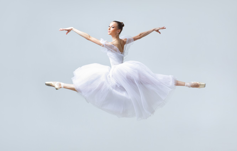 Photo wallpaper girl, jump, ballerina